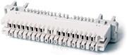 Плинт 10-парный размыкаемый типа LSA-Profil,  маркировка пар 0…9