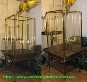 Клетки,  вольеры,  игровые стенды для попугаев
