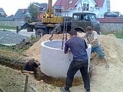 Копка канализаций, септикив