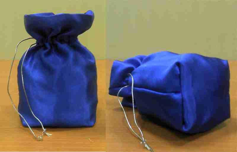 Мешочек из ткани пошагово