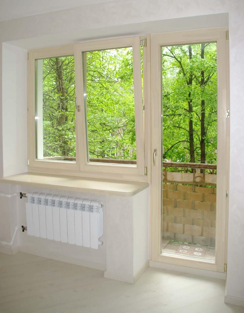 Балконные блоки для кухни из дерева..