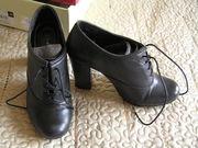 Новые черные ботильоны/полуботинки на каблуке 9 см «Andre»,  100 % кожа