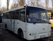 Перевозки пассажиров комфортабельным автобусом Богдан