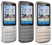 Продам мобильный  телефон Nokia C3-01 Touch and Type с  гарантией,  сер