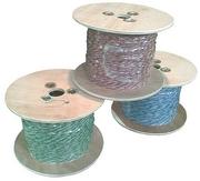 Провод кроссировочный медный,  в ПВХ изоляции,  2х0.5мм,  бело-голубой