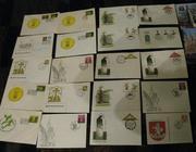 Конверты и односторонние почтовые карточки СССР,  Латвии и Литвы