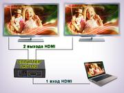 HDMI сплиттер 1:2,  (1 вход HDMI > 2 выхода HDMI)