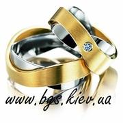 Обручальные кольца с кристаллами Swarovski