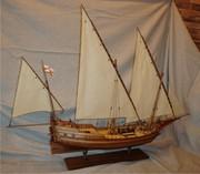Продам модель - копию парусного судна 18 века(Pinca genoveza)