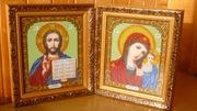 Свадебные иконы для венчания из бисера