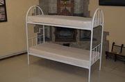 Кровати металлические  двухъярусные для хостелов