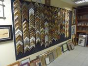 Багетная мастерская Киев,  оформление вышивок и картин,  полки из стекла