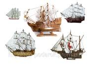 Корабль сувенирный деревянный
