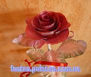 Кованые розы сувениры подарки Кованая роза кована троянда