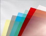 Обложка прозрачная цветная для переплета А4 200мк,  (уп/100 шт.)