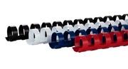 Пластиковая пружина d 14мм (белый,  черный, красный,  синий) уп./100 шт.