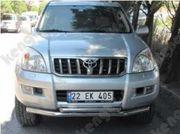 Акция! Защитная дуга по бамперу Toyota Land Cruiser Prado 120 двойная