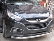 Защитная дуга по бамперу Hyundai IX35 одинарная