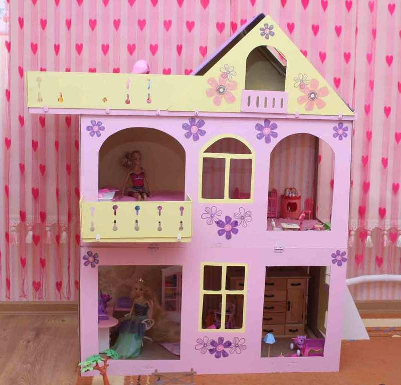 Кукольные домик своими руками для барби 763