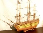 Модель парусника из дерева-ручная работа.