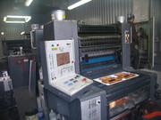 2-х красочная печатная листовая офсетная машина гейдельберг,  В2