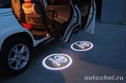 Лазерная подсветка дверей с логотипом на разные авто
