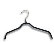 Металлические прорезиненные плечики для одежды,  черные 40см, 45см