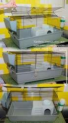 Укомплектованаклетка для кроликов,  хорьков,  морских свинок,  ежиков
