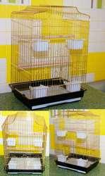 Клетка для средних и крупных попугаев с 4-мя большими съемными кормушк