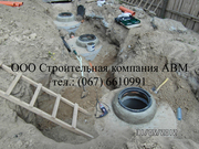 Канализация из бетонных колец для частного дома