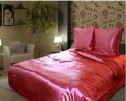 Качественное атласное постельное белье евро размер
