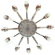 Оригинальные кухонные часы Ложки-Вилки