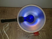 медицинская прогревающая синяя лампа