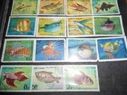 коллекция  марок рыбки  Вьетнам гашеные