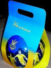 подарочный мяч сборной Украины в упаковке сувенирный большой