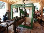 Продается вертикальный 2х ленточный брусовочный станок от итальянской