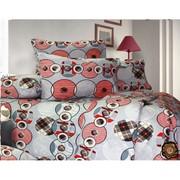 Полуторный комплект постельного белья,  материал - бязь.