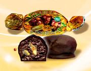 Конфеты шоколадные финик с орехом