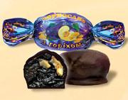 Конфеты шоколадные чернослив с орехом