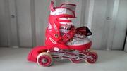 Детские раздвижные ролики четырех колесные размер 30-33,