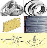 Проволока для громоотводов 6, 0-8, 0-10, 0мм,  полоса,  крепеж молниезащита