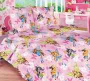 Детское постельное белье,  Комплект Винкс