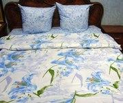 Семейное постельное белье,  Комплект Голубая лилия