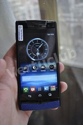 Vertu Signature Touch Pure Black Navy Blue