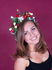 Веночки,  украинские венки,  обручи с цветами,  для девичника,  праздничны