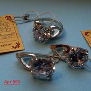 Продаю серьги серебро 925 проба,  есть гарнитуы с кольцом,  браслетом,  к