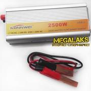 Автомобильный преобразователь напряжения Konnwei 12-220 2500W