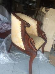 Кресло Кресло ткань и дерево,  бежевый цвет размеры.
