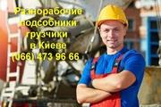 Грузчики Киев,  грузоперевозки,  разнорабочие в Киеве