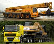 Услуги автокранами от 40 до 400 тонн,  перевозки негабаритных грузов.